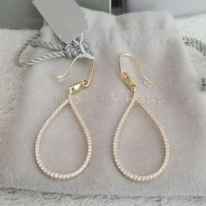 New Michael Kors  Pavé Tear-Shape Drop Earrings